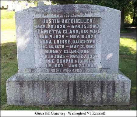 CLARK BATCHELLER, HENRIETTA - Rutland County, Vermont   HENRIETTA CLARK BATCHELLER - Vermont Gravestone Photos
