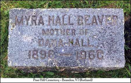 BEAVER, MYRA - Rutland County, Vermont | MYRA BEAVER - Vermont Gravestone Photos