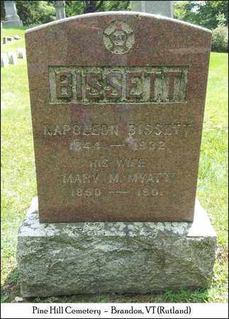 BISSETT, MARY - Rutland County, Vermont   MARY BISSETT - Vermont Gravestone Photos