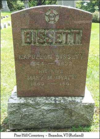 BISSETT, MARY - Rutland County, Vermont | MARY BISSETT - Vermont Gravestone Photos