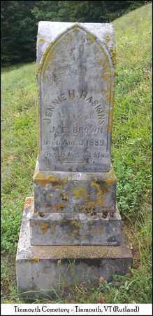 HASKINS BROWN, JENNIE H. - Rutland County, Vermont | JENNIE H. HASKINS BROWN - Vermont Gravestone Photos