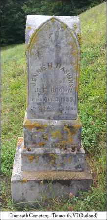 BROWN, JENNIE H. - Rutland County, Vermont | JENNIE H. BROWN - Vermont Gravestone Photos