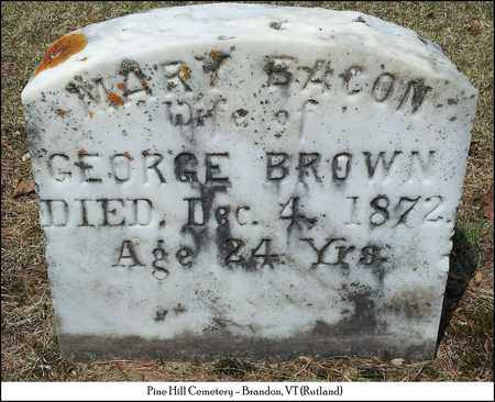 BROWN, MARY - Rutland County, Vermont | MARY BROWN - Vermont Gravestone Photos