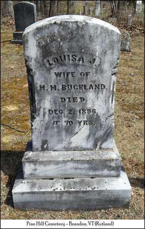 BUCKLAND, LOUISA J. - Rutland County, Vermont | LOUISA J. BUCKLAND - Vermont Gravestone Photos
