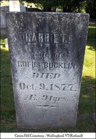 BUCKLIN, HARRIET - Rutland County, Vermont | HARRIET BUCKLIN - Vermont Gravestone Photos