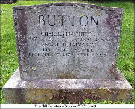 RAY BUTTON, ABIGAIL HOPKINS - Rutland County, Vermont   ABIGAIL HOPKINS RAY BUTTON - Vermont Gravestone Photos