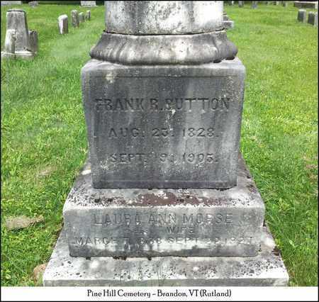 MORSE BUTTON, LAURA ANN - Rutland County, Vermont | LAURA ANN MORSE BUTTON - Vermont Gravestone Photos
