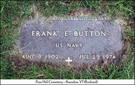 BUTTON (VETERAN), FRANK EDWIN - Rutland County, Vermont | FRANK EDWIN BUTTON (VETERAN) - Vermont Gravestone Photos