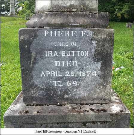 BUTTON, PHOEBE F. - Rutland County, Vermont | PHOEBE F. BUTTON - Vermont Gravestone Photos