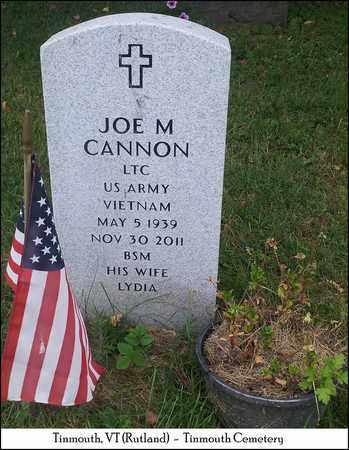 CANNON, JOE M. - Rutland County, Vermont | JOE M. CANNON - Vermont Gravestone Photos