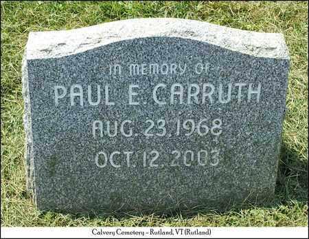 CARRUTH, PAUL E. - Rutland County, Vermont | PAUL E. CARRUTH - Vermont Gravestone Photos