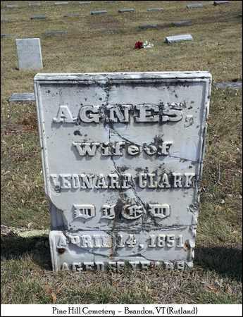 CLARK, AGNES - Rutland County, Vermont   AGNES CLARK - Vermont Gravestone Photos