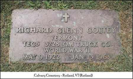COLTEY (VETERAN WWII), RICHARD GLENN - Rutland County, Vermont | RICHARD GLENN COLTEY (VETERAN WWII) - Vermont Gravestone Photos