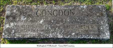 CONGDON, ALLEN - Rutland County, Vermont | ALLEN CONGDON - Vermont Gravestone Photos