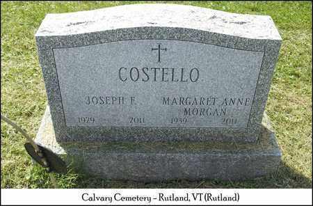 MORGAN COSTELLO, MARGARET ANNE - Rutland County, Vermont   MARGARET ANNE MORGAN COSTELLO - Vermont Gravestone Photos