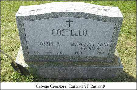 MORGAN COSTELLO, MARGARET ANNE - Rutland County, Vermont | MARGARET ANNE MORGAN COSTELLO - Vermont Gravestone Photos