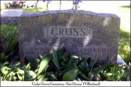 CROSS, JOHN FRANKLIN - Rutland County, Vermont | JOHN FRANKLIN CROSS - Vermont Gravestone Photos