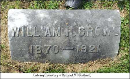 CROWE, WILLIAM H. - Rutland County, Vermont   WILLIAM H. CROWE - Vermont Gravestone Photos