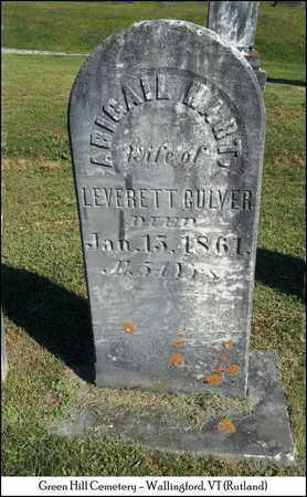 CULVER, ABIGAIL - Rutland County, Vermont   ABIGAIL CULVER - Vermont Gravestone Photos