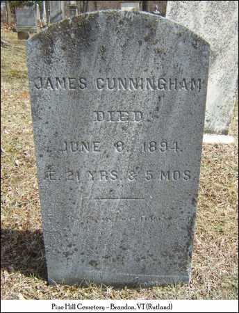 CUNNINGHAM, JAMES - Rutland County, Vermont | JAMES CUNNINGHAM - Vermont Gravestone Photos