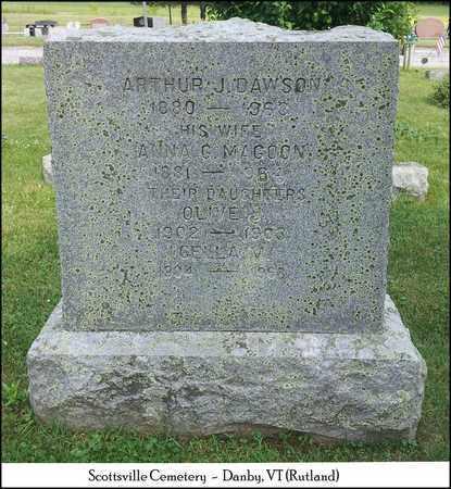 MAGOON DAWSON, ANNA GOLDIE - Rutland County, Vermont | ANNA GOLDIE MAGOON DAWSON - Vermont Gravestone Photos