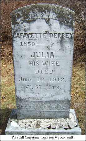 DERBEY, JULIA - Rutland County, Vermont | JULIA DERBEY - Vermont Gravestone Photos