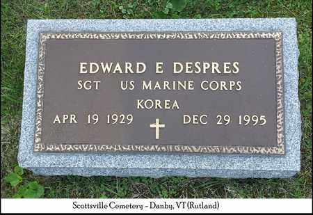 DESPRES, EDWARD E. - Rutland County, Vermont   EDWARD E. DESPRES - Vermont Gravestone Photos