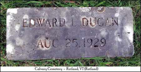 DUGAN, EDWARD LEWIS - Rutland County, Vermont | EDWARD LEWIS DUGAN - Vermont Gravestone Photos