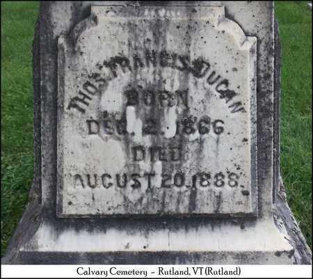 DUGAN, THOMAS FRANCIS - Rutland County, Vermont | THOMAS FRANCIS DUGAN - Vermont Gravestone Photos