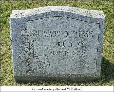 DUPLESSIA, MARY - Rutland County, Vermont | MARY DUPLESSIA - Vermont Gravestone Photos