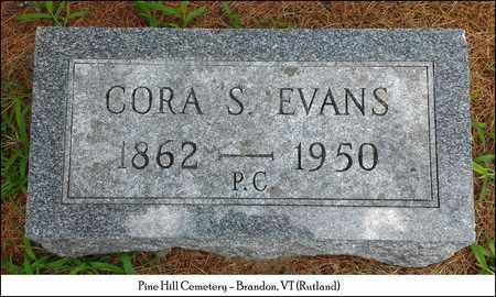 EVANS, CORA S. - Rutland County, Vermont | CORA S. EVANS - Vermont Gravestone Photos