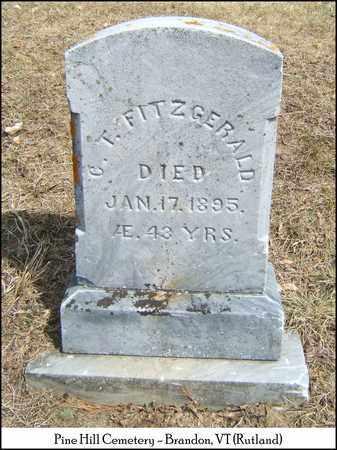 FITZGERALD, C. T. - Rutland County, Vermont | C. T. FITZGERALD - Vermont Gravestone Photos