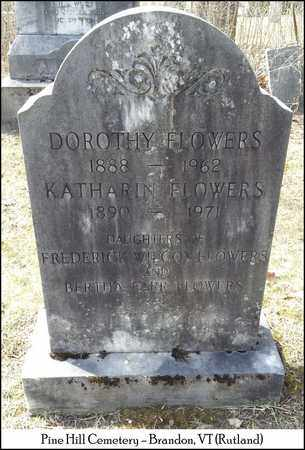 FLOWERS, KATHARIN - Rutland County, Vermont | KATHARIN FLOWERS - Vermont Gravestone Photos
