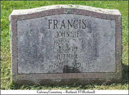 FRANCIS, JOHN HENRY (JOHNNIE) - Rutland County, Vermont | JOHN HENRY (JOHNNIE) FRANCIS - Vermont Gravestone Photos