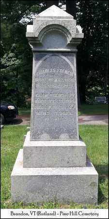 FRENCH, CHARLES - Rutland County, Vermont   CHARLES FRENCH - Vermont Gravestone Photos