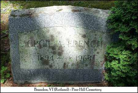FRENCH, CECIL A. - Rutland County, Vermont | CECIL A. FRENCH - Vermont Gravestone Photos