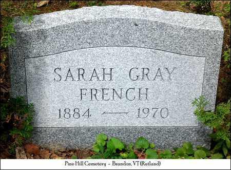 GRAY FRENCH, SARAH LUMSDEN - Rutland County, Vermont | SARAH LUMSDEN GRAY FRENCH - Vermont Gravestone Photos