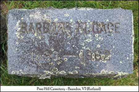GAGE, BARBARA M. - Rutland County, Vermont | BARBARA M. GAGE - Vermont Gravestone Photos