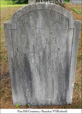 GASKILL, MARION NICKERSON - Rutland County, Vermont | MARION NICKERSON GASKILL - Vermont Gravestone Photos
