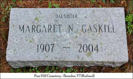 GASKILL, MARGARET N. - Rutland County, Vermont | MARGARET N. GASKILL - Vermont Gravestone Photos