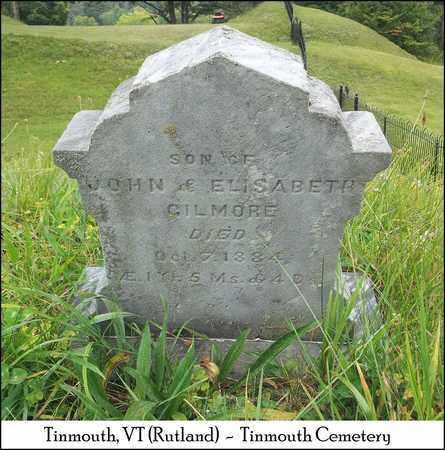 GILMORE, INFANT SON - Rutland County, Vermont   INFANT SON GILMORE - Vermont Gravestone Photos