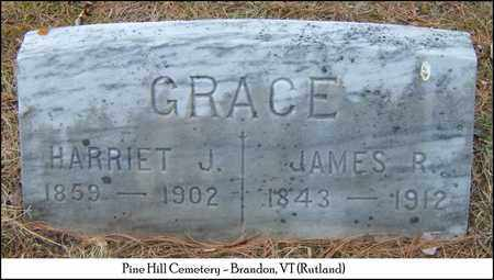 GRACE, JAMES ROLLIN - Rutland County, Vermont | JAMES ROLLIN GRACE - Vermont Gravestone Photos