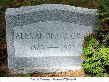 GRAY, ALEXANDER G. - Rutland County, Vermont | ALEXANDER G. GRAY - Vermont Gravestone Photos
