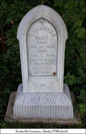 GRAY, CLARRISSA S. - Rutland County, Vermont   CLARRISSA S. GRAY - Vermont Gravestone Photos