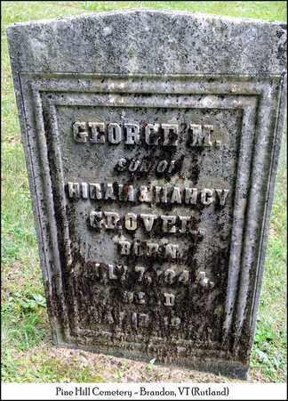 GROVER, GEORGE M. - Rutland County, Vermont | GEORGE M. GROVER - Vermont Gravestone Photos