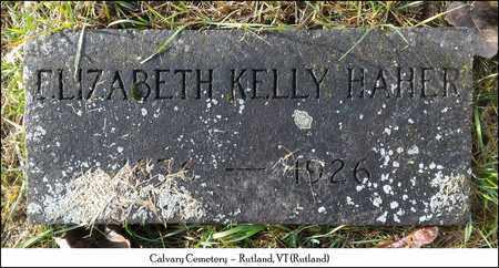 KELLY HAHER, ELIZABETH - Rutland County, Vermont | ELIZABETH KELLY HAHER - Vermont Gravestone Photos