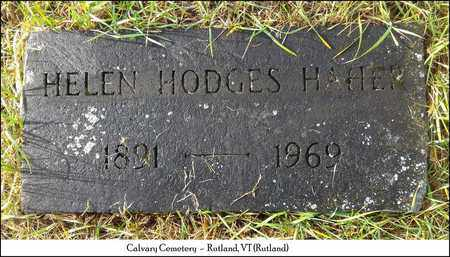 HODGES HAHER, HELEN - Rutland County, Vermont | HELEN HODGES HAHER - Vermont Gravestone Photos
