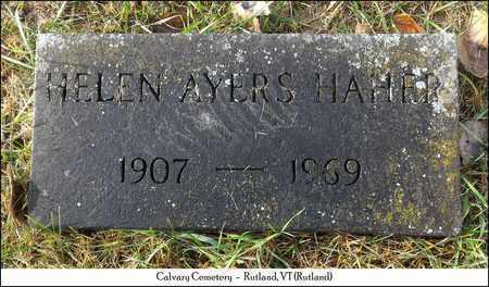 HAHER, HELEN - Rutland County, Vermont | HELEN HAHER - Vermont Gravestone Photos