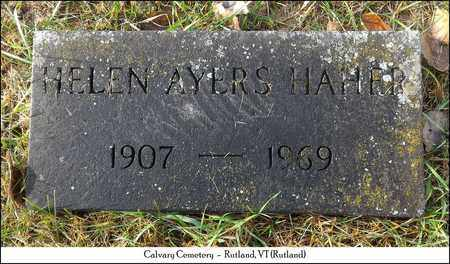 AYERS HAHER, HELEN - Rutland County, Vermont | HELEN AYERS HAHER - Vermont Gravestone Photos