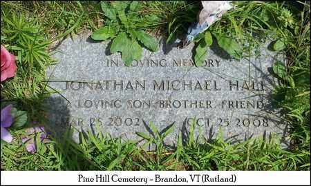 HALL, JONATHAN MICHAEL - Rutland County, Vermont   JONATHAN MICHAEL HALL - Vermont Gravestone Photos